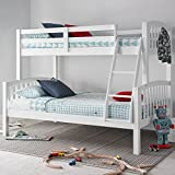 Happy Beds American Triple Sleeper Bunk Bed Modern Wooden Kids Bedroom Furniture