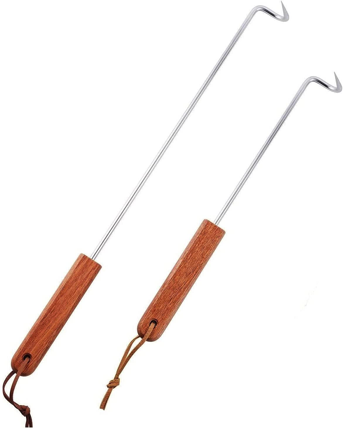 Max 43% OFF LQLMCOS Food Flipper Luxury Turner Hooks Meat BBQ Stainless Steel
