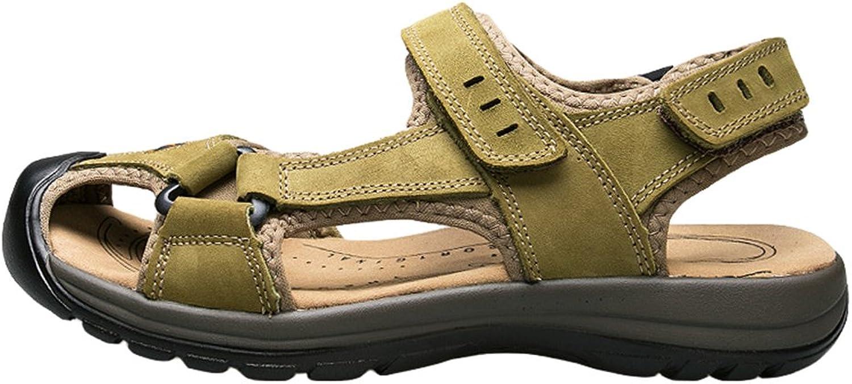 Hevego Zandalias Non Slip Leather Fisherman Beach Hiking Sandals for Women
