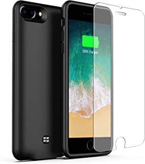 U-good Battery Case for iPhone 7 Plus/8 Plus 4200mAh, Ultra Slim Light Portable Protective Charging Case for iPhone 7/8 Plus(5.5 inch) Rechargeable Extended Battery Charger Case,Fit Headphone-Black