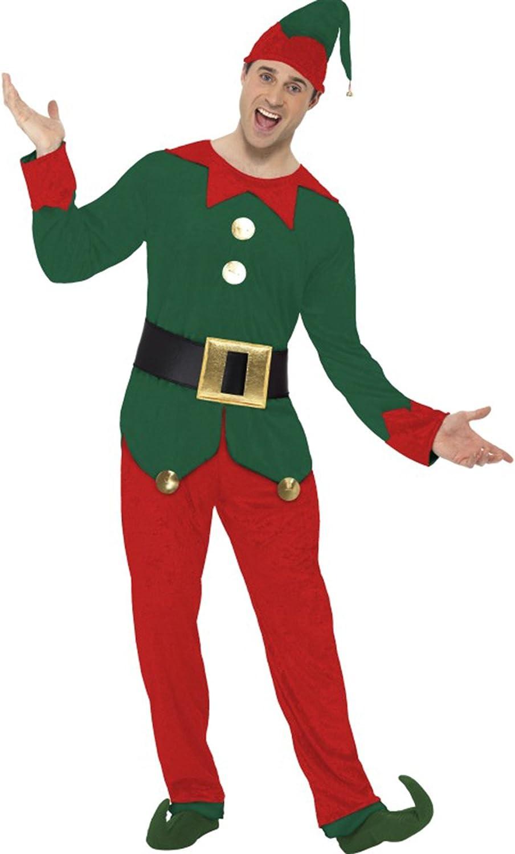 Zauberclown Herren Weihnachtselfe Weihnachtsmann Helfer mit Mütze ganzkörper, M, Grün B07791L1K1 König der Quantität   | Moderne und stilvolle Mode