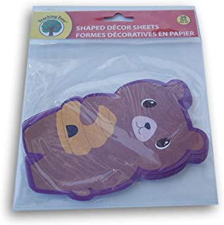 Teaching Tree Paper Shaped Decor Sheets - Bear with Beehive - 36 Count