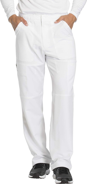 Dickies Dynamix DK610 Ensemble stretch à col en V et pantalon cargo à fermeture Éclair DK110 pour homme Blanc