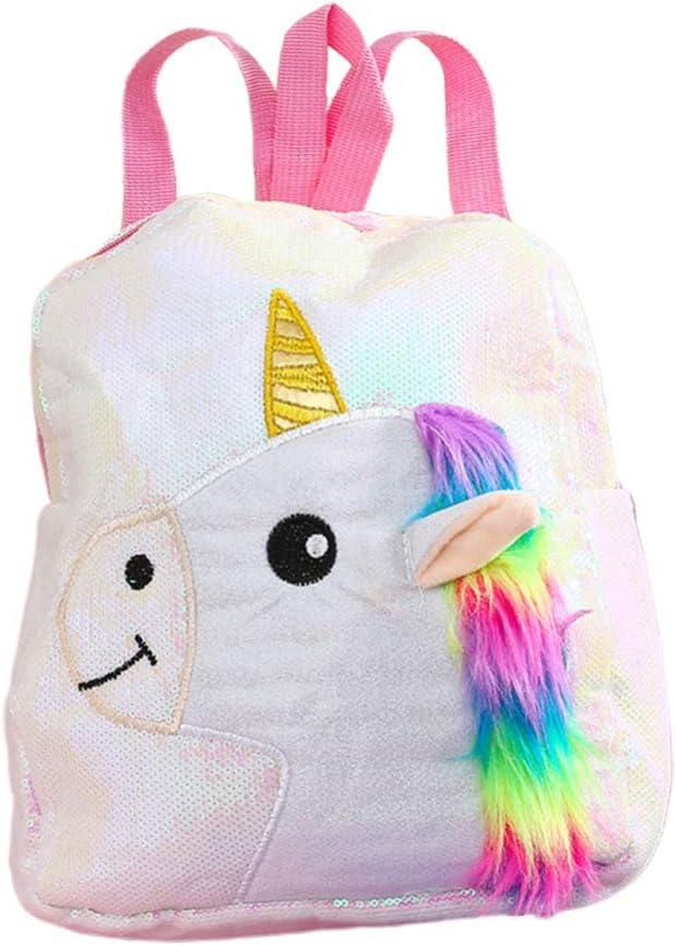 TENDYCOCO Toddler Backpack Unicorn Backpack Purse Glitter Bookbag Sequin School Bag Girls