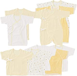 西松屋 (EFD)カリフォルニア綿10枚組新生児肌着セット(ウサギ/クマ/ひよこ)【新生児50-60cm】 新生児 ヒヨコ(イエロー)
