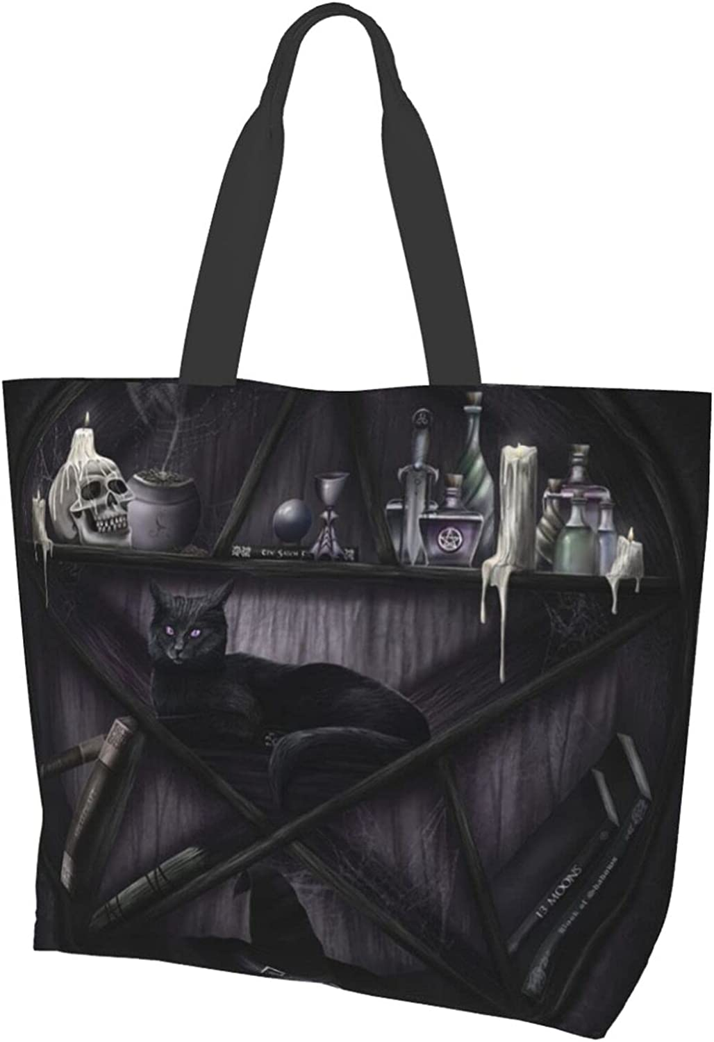 Themed Printed Women'S Canvas Shoulder Bags Casual Handbags Work Bag Tote Purses Leisure Hobo Bag For Shopping
