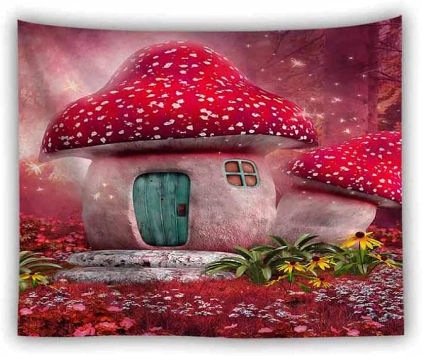 San Jose Mall Tapestry by FDCYFFS Forest Red Tape Mushroom House Lace Fees free!!