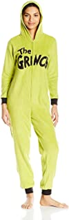 Dr.Seuss Women's Grinch Hoodie Union Suit