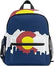 Colorado Flag City Kid Backpack 12 inch Toddler Bookbag Travel School Bag