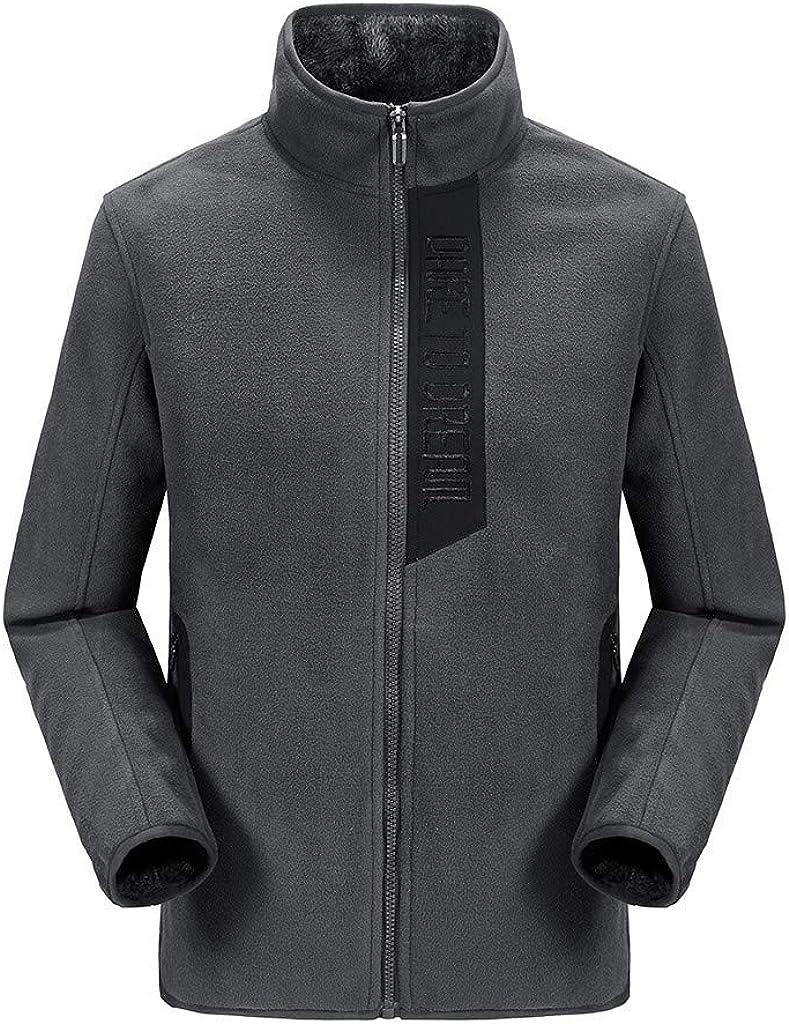 MODOQO Men's Snow Winter Warm Thick Coat, Zipper Jacket Windproof Outwear Hiking Camping