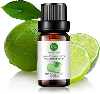 Lime Essential Oil 100% Pure Therapeutic Grade Aromatherapy Oil for Perfume, Diffuser, Soaps, Candles, Massage, Lotions, a...