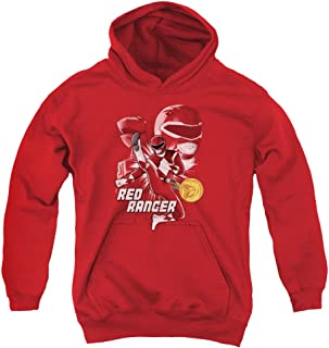 Power Rangers Red Ranger Unisex Youth Pull-Over Hoodie for Boys and Girls