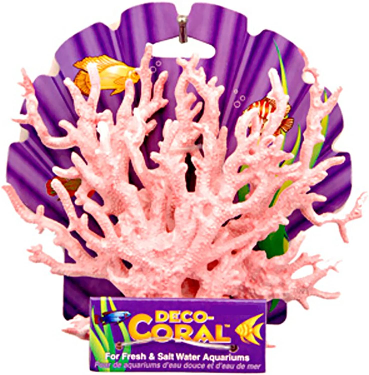 PennPlax  Stag Coral   Pink & White  Small   6 L X 6.5 H
