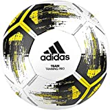 adidas Team Training Pro Ballon d'entraînement White/Solar Yellow/Black/Iron Metallic FR : Taille Unique (Taille Fabricant : 4)
