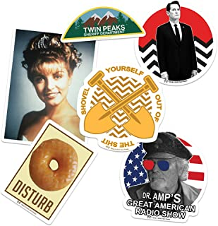 Popfunk Twin Peaks Collectible Stickers with Laura Palmer and Agent Cooper