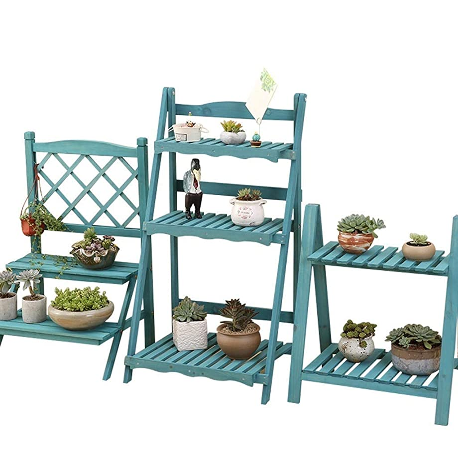 工夫するあたりスマートZhouzhou 家庭菜園木製の組み合わせフラワーポットラック多層環境保護植物スタンド
