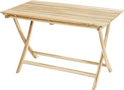 Teak Holz FSC/®-Zertifiziert Flachstahl schwarz DEGAMO Gartentisch Jakarta 75x125cm klappbar