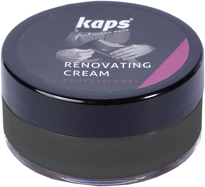Kaps Crema Reparadora Y Renovadora Para Zapatos De Cuero Liso, Bolsas, Asientos, Reparador De Arañazos Y Rasguños, Renovating Cream, 10 Colores