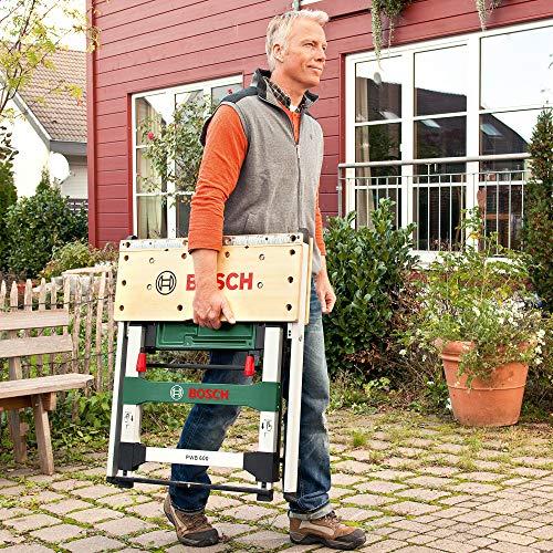 Bosch Arbeitstisch (mit 4x Spannbacken, Karton, max. Tragfähigkeit: 200 kg) PWB 600 - 4