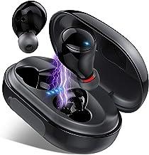 Donerton Wireless Earbuds, Bluetooth 5.0 Headphones IP8 Waterproof Earbuds, 80 Playtime, in Ear Headphones with Mic, Deep ...