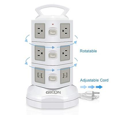 Power Strip Surge Protector - GLCON Power Strip...