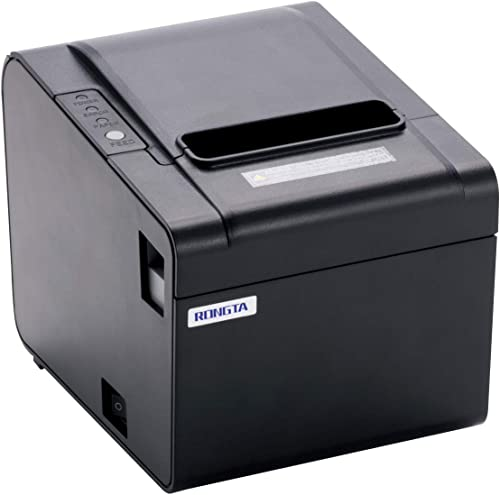 Rongta Thermal Printer USB Serial Ethernet Port POS Thermal Receipt Printer Compatible 80mm Thermal Paper Rolls High-...