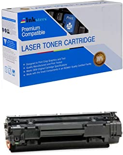 Inksters Compatible Black Toner Cartridge Replacement for HP 36A (CB436A) - Compatible with Laserjet P1505 P1505N M1522NM1522N MFPM1522NF M1522NF MFP M1120 M1120N