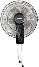 Geepas 16-Inch Table Fan | 3 Speed Settings with Oscillating/Rotating and Static Feature | Electric Wall Mount Cooling Fan...