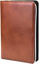 Chris-Wang 1Pk PU Leather Zipper Binder Business Zippered 6-ring Portfolio Planner -Filler Paper, Pagefinder Ruler, Calculator, Clear PVC Card Bag Included (A6, Brown)