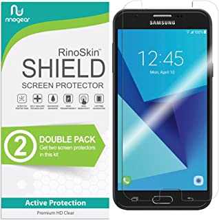 RinoGear RinoGear for Samsung Galaxy J7 Sky Pro Screen Protector [2-Pack] (Edge-to-Edge) Flexible Screen Protector for Sam...