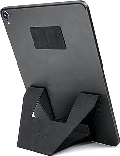 FoldStand Tablet タブレットスタンド 超薄型 縦置き 横置き 2Way 貼り付け パッドスタンド 落下防止 繰り返し使える 9~14インチ対応 (グレー)