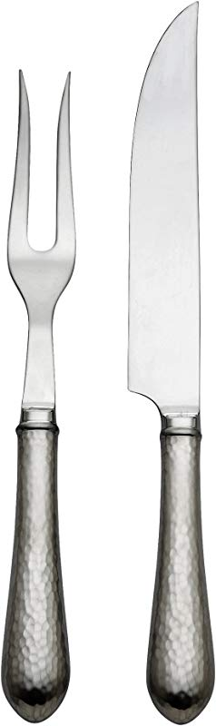 Reed Barton Hammered Antique 2 Piece Carving Set 0