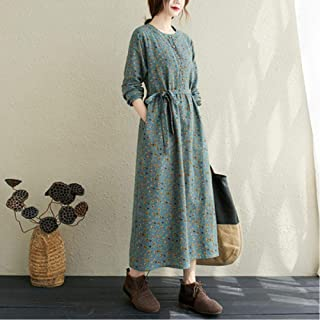 Women'S Autumn Cotton And Linen Long Skirt New To Art Style