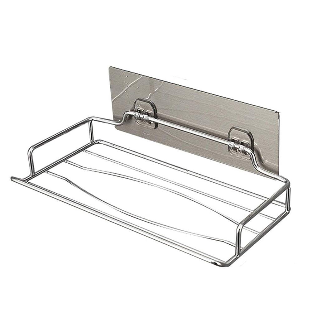 裂け目スカープスナックSaikogoods 実用的なデザインステンレススチール壁掛けトイレットペーパーホルダーホーム浴室キッチンペーパーティッシュボックスホルダーハンガー 銀