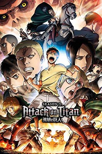 Close Up Poster Attack On Titan - 2nda Temporada/Season 2 Key Art (61cm x 91,5cm) + 1 poster Sorpresa de Regalo