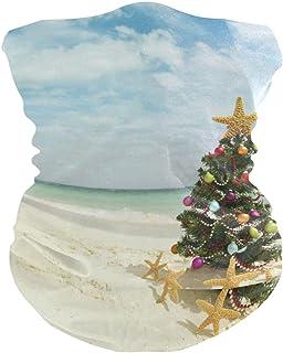 Christmas Tree Starfish Sandy Beach Bavaclava Face Mask for Women Bandana Neck Gaiter Half Face Masks Cold Weather Men kids