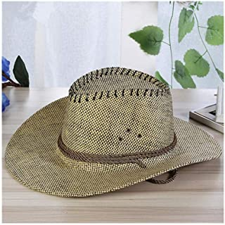 Men Sun Hats Summer Casual Fashion Leather Solid Beach Holiday Cowboy Hat