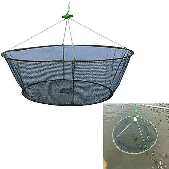 Mullue 3pcs Rod Cast Fishing Net Fish Trap Play Trap Design Fishing Mesh Net No Need Hooks Fish Minnow Crawfish Crab Trap Lobster Shrimp Baits Cast Mesh Trap