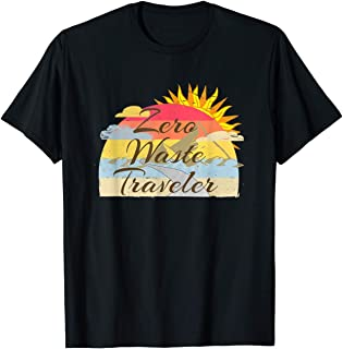 TIANLANGHB Zero Waste Traveler Protect Our World Conservationist Tshirt