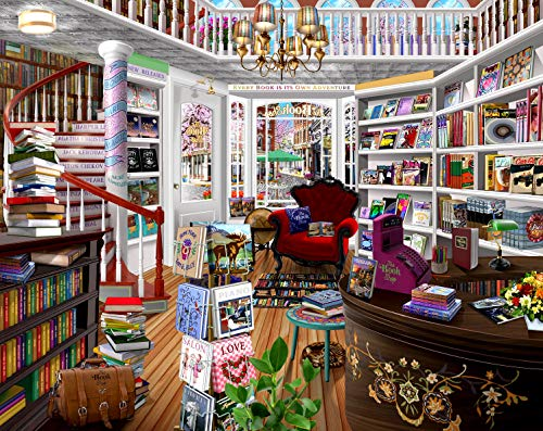 The Book Shop 1000 pc Jigsaw Puzzle by SUNSOUT INC