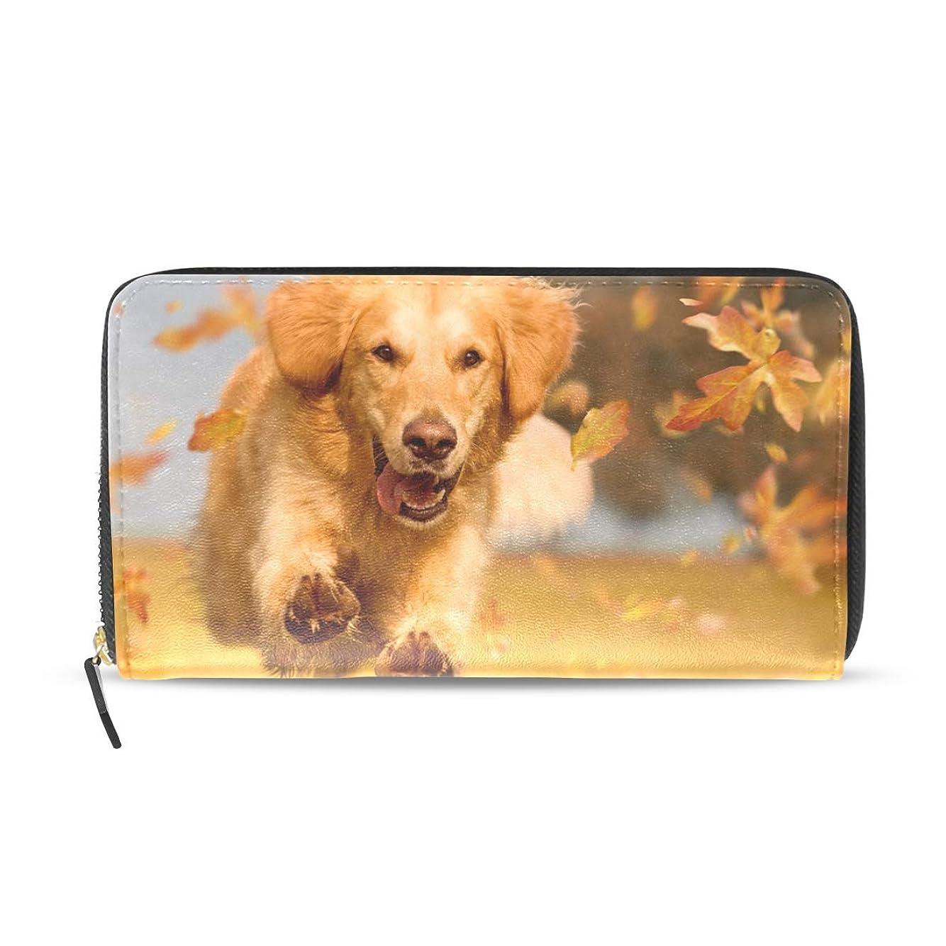 剣口ひげ充実AOMOKI 長財布 財布 ラウンドファスナー 北欧 ギフト プレゼント PU レザー 大容量 通学 通勤 旅行 幅20*丈11cm ドッグ 犬柄 可愛い犬柄