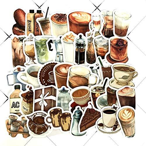 wawale Koffie stickers, koffiebonen, hand account stickers, tablet mobiele telefoon beker decoratieve stickers (80 foto's)