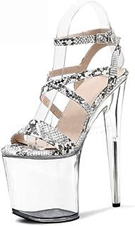 YXX Chaussure Mode Sandale Escarpin Hauts Talons Plateforme Mariage Cérémonie Femme Lanières Croisées Simple Basique Class...