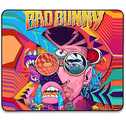 Deedee Bad Bunny Mouse Pad - Fashion Game Cool Funny Personalized Mousepad Waterproof Anti-Slip Rubber Mouse Mat Pads for Kids Laptops Office Computer Pc 11.81 x 9.84 x 0.12Inch