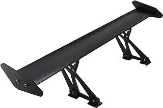 BestEquip Single Rear GT Wing 43.3inch GT Wing Spoiler Adjustable Angel Single-Deck Aluminum Spoiler Aluminum Car Rear Wing Single Deck