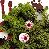 Oblique Unique® 50 kleine Spinnen aus Kunststoff für Halloween Fasching Karneval Streudeko Tisch Deko Schwarz - 6