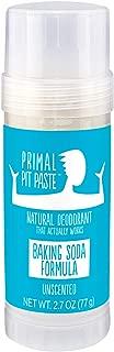Primal Pit Paste All-Natural Deodorant - Aluminum & Paraben Free - Unscented Deodorant Stick