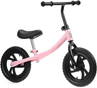 12 Tum Barn Balanscykel Ultralätt Barn Gående Ridning Cykel Höjd Justerbar Nybörjare Ryttare Träning Sporter Cykel (Color...