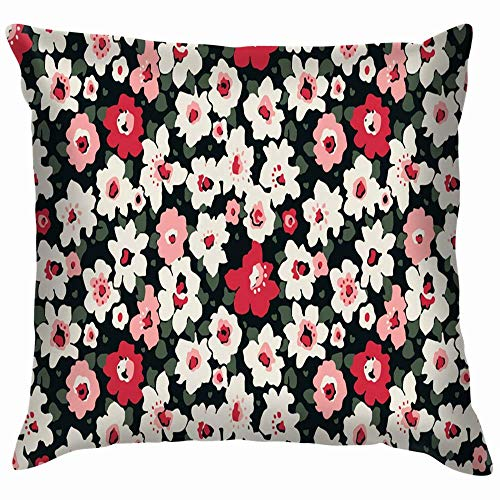 Moily Fayshow Trendy Floral Pillow Case Throw Pillow Cover Square Cushion Cover 16X16 Inch