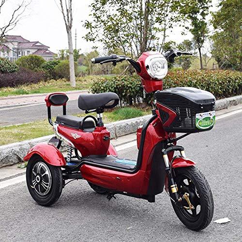 LLPDD Scooter, Mini eléctrico Triciclo portátil al Aire Libre para Adultos de Edad Avanzada Viaje discapacitados Vespa 48V20A E-Scooter para Adultos Y Viejo,Rojo